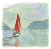 learn Watercolour, watercolour tutorial, boat